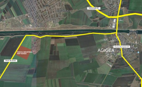 WDP Agigea - proiect in dezvoltare inchiriere spatii depozitare Constanta sud vedere satelit