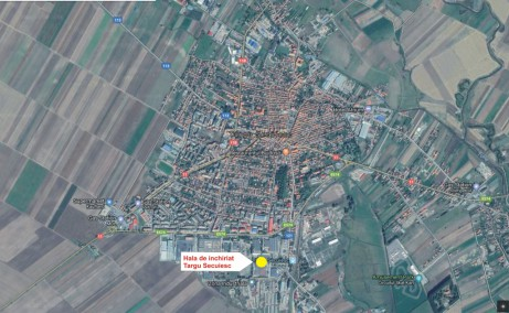 Hala Targu Secuiesc inchiriere spatiu depozitare Targu Secuiesc sud localizare harta