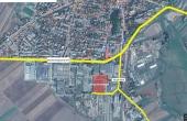 Hala Targu Secuiesc inchiriere spatiu depozitare Targu Secuiesc sud vedere logistica din satelit