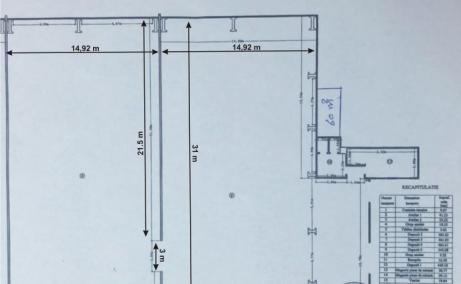 Hala Centura Bucuresti inchiriere spatiu depozitare Bucuresti nord plan cadastral