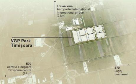 VGP Park Timisoara inchiriere spatiu depozitare Timisoara nord est  plan amplasament