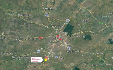Banu Construct Timisoara - spatiu depozitare si spatiu productie Timisoara sud localizare google map