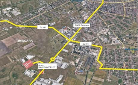 Banu Construct Timisoara - spatiu depozitare si spatiu productie Timisoara sud localizare harta