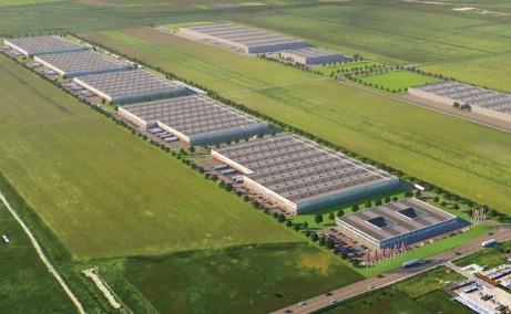 Timisoara Airport Park 1 (TAP I) inchirieri  spatii industriale Timisoara nord est vedere satelit