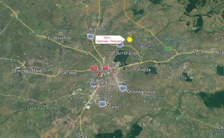 Timisoara Airport Park 1 (TAP I) inchirieri  spatii industriale Timisoara nord est localizare harta