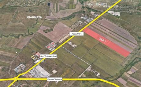Timisoara Airport Park 1 (TAP I) inchirieri  spatii industriale Timisoara nord est delimitare proprietate