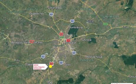 Geox Timisoara inchirieri proprietati industriale Timisoara  sud localizare harta