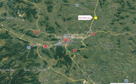 TRC Park Transilvania - Proiect in dezvoltare inchiriere Cluj-Napoca nord localizare harta