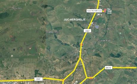TRC Park Transilvania - Proiect in dezvoltare inchiriere Cluj-Napoca nord vedere google map