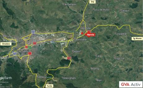 Nervia Industrial Park inchirieri parcuri industriale Cluj-Napoca est localizare harta