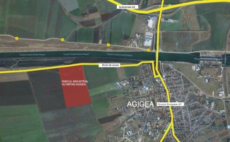 Olympian Park Constanta spatii depozitare de inchiriat Constanta sud vedere satelit