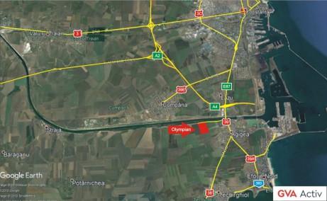 Olympian Park Constanta spatii depozitare de inchiriat Constanta sud localizare harta