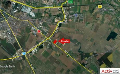 Olympian East Bucharest Park - inchiriere spatiu depozitare  Bucuresti imagine localizare satelit