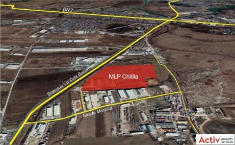 MLP Bucuresti -spatiu de depozitare Bucuresti nord-vest localizare imagine