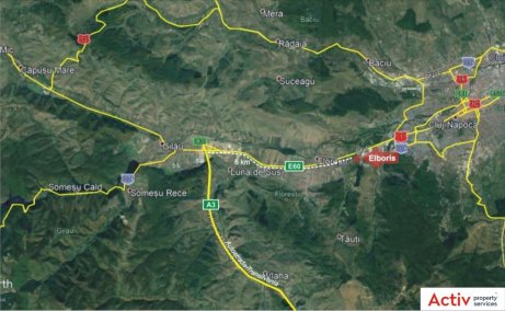 Elboris Cluj-Napoca inchirieri hale cluj localizare harta Cluj-Napoca