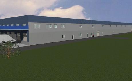 Turda Warehouse inchiriere spatii industriale Turda est vedere laterala
