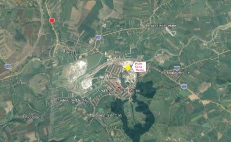 Ocna Mures Industrial Park inchirieri spatii industriale Ocna Mures nord-est localizare