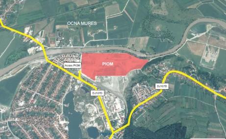 Ocna Mures Industrial Park inchirieri spatii industriale Ocna Mures nord-est vedere satelit