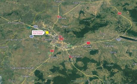 Eurobusiness Park I Oradea inchirieri spatii industriale Oradea nord-vest localizare google map