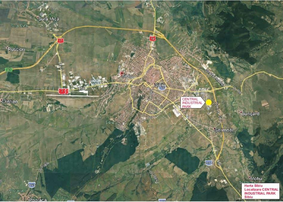 Central Industrial Parc Oferă Hale Industriale In Sibiu Langă A1