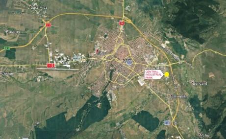 Central Industrial Park spatii depozitare de inchiriat Sibiu este localizare harta Sibiu