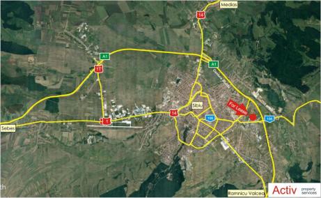 General Industrial Park inchirieri spatii depozitare Sibiu est localizare harta