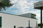 Network Industrial Park inchirieri spatii depozitare sau productie Sibiu est vedere laterala